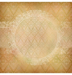 Lace Banner Card Abstract Vintage Background vector image