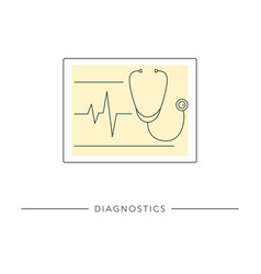 healthcare diagnostic tool vector image