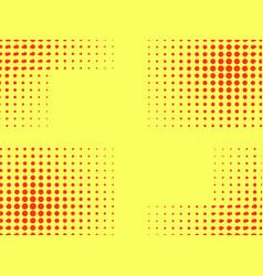 pop art seamless pattern halftone background vector image vector image