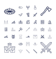 37 ancient icons vector