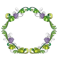 A grape vine border vector image