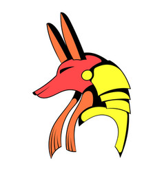 anubis head icon cartoon vector image