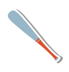 Baseball bat equipment icon vector