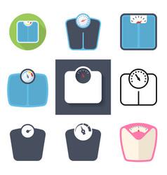 bathroom scale icon set vector image
