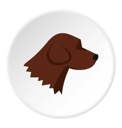 Beagle dog icon flat style vector