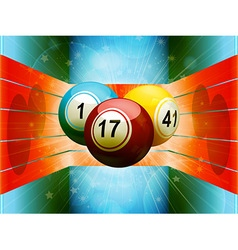 Bingo balls in colourful 3D environment vector