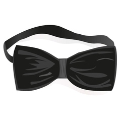 Black bow-tie vector
