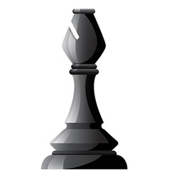 Black chess bishop on white vector image