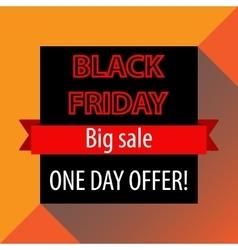 Black Friday offer banner template vector image