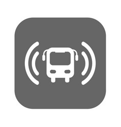 bus wi-fi icon vector image