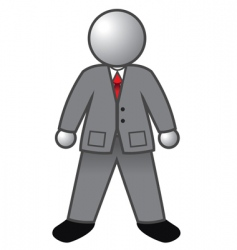 businessman glossy vector image vector image