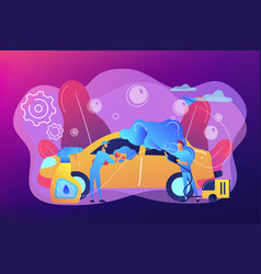 Car wash service concept vector