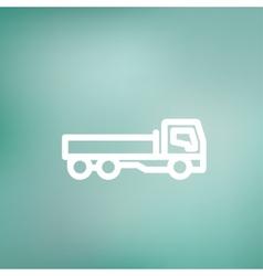 Cargo truck thin line icon vector image