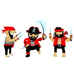 Cartoon pirates with weapon vector