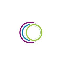 circle logo templates vector image