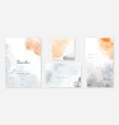 Creative abstract template background set vector