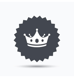 Crown icon Royal throne leader sign vector image