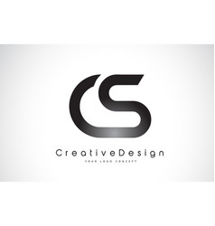 Cs c s letter logo design creative icon modern vector