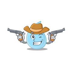 Cute handsome cowboy raindrop cartoon vector