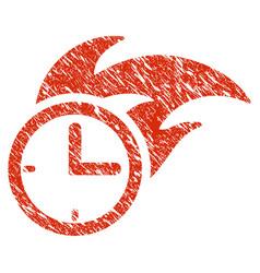 deadline fired clock icon grunge watermark vector image