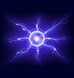 electric plasma lightning thunderball discharge vector image