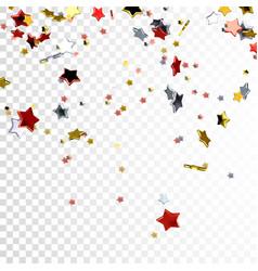 Festive of flying stars vector