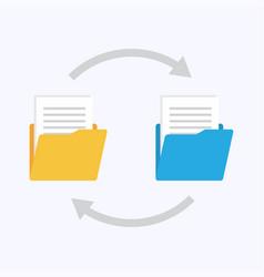 files transfer copy data exchange backup vector image