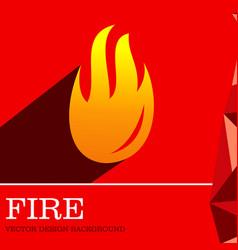 Fire design background vector