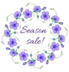 Floral frame wreath design element Season sale vector image