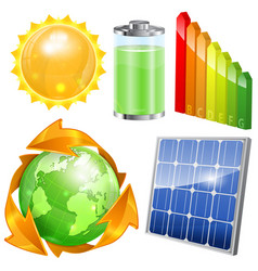Green Energy Set vector