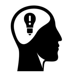 head bulb idea icon simple style vector image