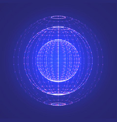 interstellar space polygonal background vector image