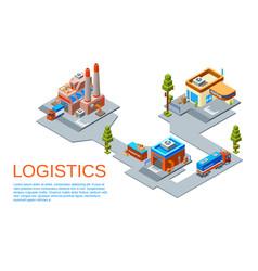 Isometric logistics transportation concept vector