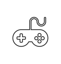 Joystick sign icon in flat style gamepad on white vector