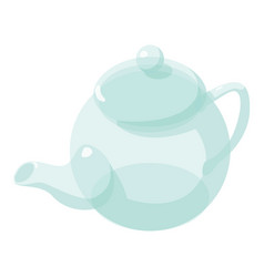 kettle glass icon isometric 3d style vector image