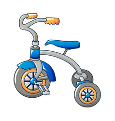 kid tricycle icon cartoon style vector image