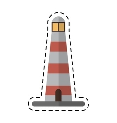 Lighthouse search light guide cutting line vector