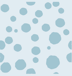 modern abstract blue circles on light blue vector image
