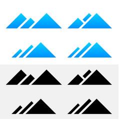 Mountain peak symbols vector