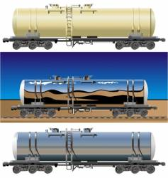 Oil gasoline tanker cars vector