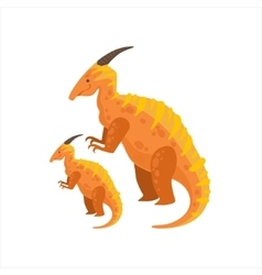 Parasaurolophus Dinosaur Prehistoric Monster vector image
