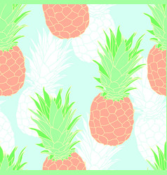 Pastel color pineapple seamless pattern vector