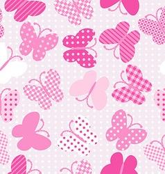Pink patterned butterflies seamless vector