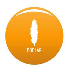 poplar tree icon orange vector image
