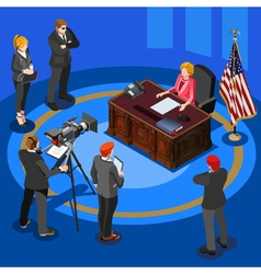 President Speech Isometric People vector image