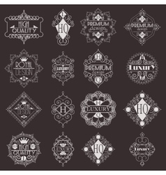 Retro Design Luxury Insignias Logotypes Template vector image