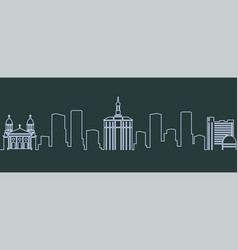 san jose single line skyline vector image