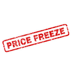 Scratched price freeze rounded rectangle stamp vector