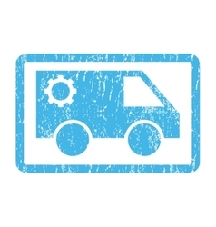 Service Car Icon Rubber Stamp vector
