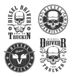 Set of vintage emblems vector